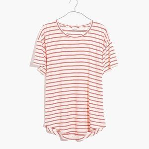 [NWT] Madewell Crewneck Cotton Tee in Stripe